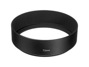 72mm-Black-Metal-Normal-Angle-Screw-in-Lens-Hood-72mm-Thread-UK-SELLER