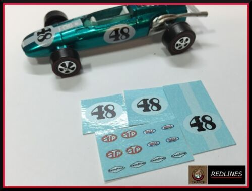 1969 Hot Wheels Redline /'Indy Eagle/' Reproduction Decal SCR-0307