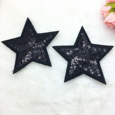 2pcs Stars Sewing Lron On Patches Embroidered Applique For Cloth Badge Motif