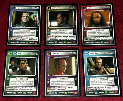 Star Trek ccg sealed pack of all 6 2nd Anthology cards Vedek Dax, Bashir Founder