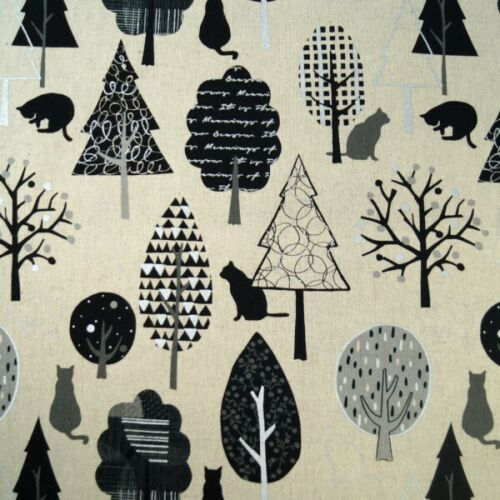 Sale Japanese Cotton Linen Fabric Nutex Lecre Monochrome Forest