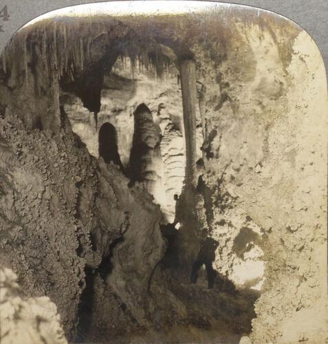 Keystone Stereoskopie Zwilling Kuppeln Carlsbad Caverns aus 588ms Szenerie