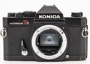Konica-Autoreflex-T3-schwarz-Gehaeuse-Body-SLR-Kamera-Spiegelreflexkamera