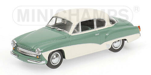 WARTBURG A 311 Coupé - 1958-vert blanc 430015922 Minichamps 1 43 new in a Box