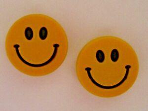 Garden Clog Charm Plug Button Fits Wristband Accessorie Bracelet Smile Face