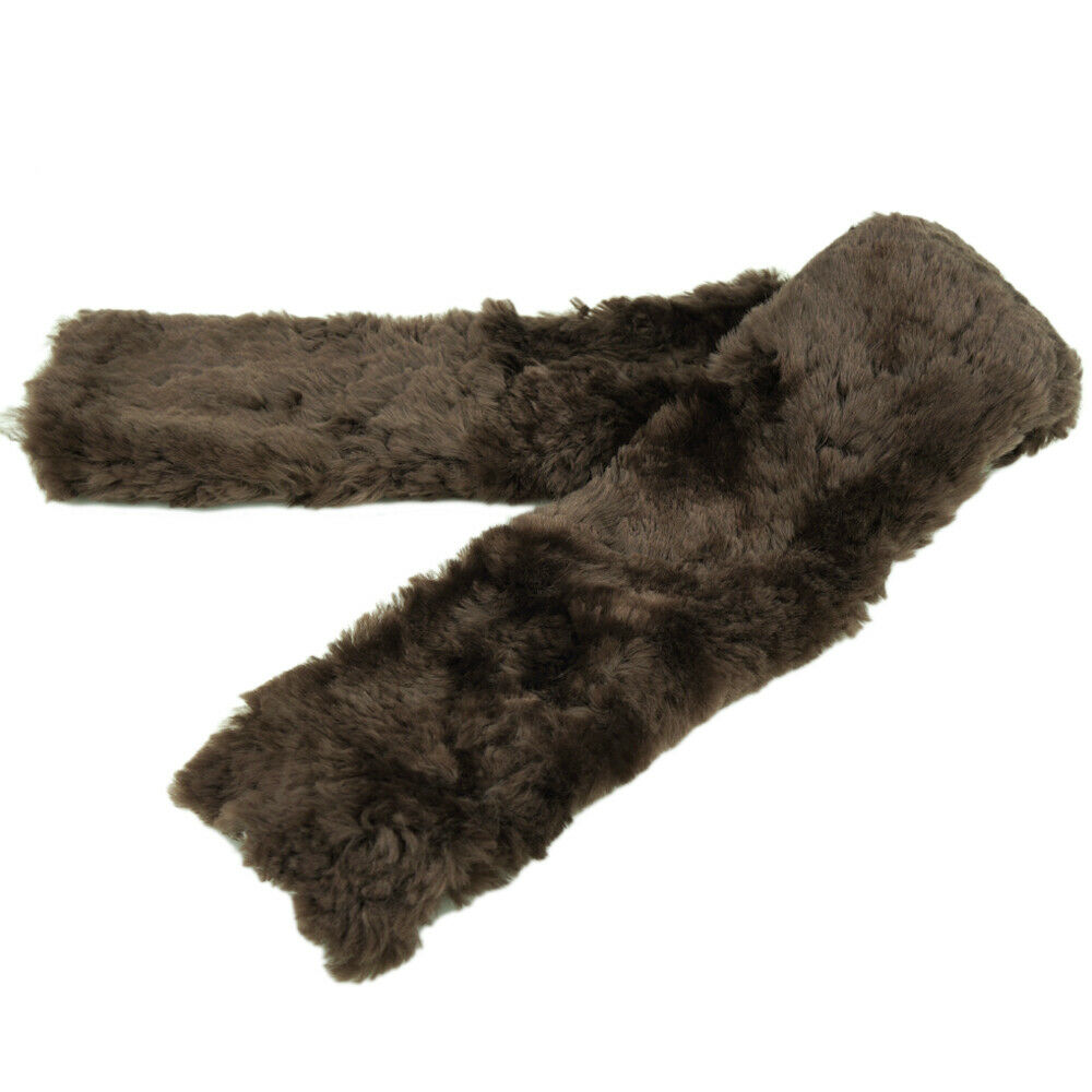 Deluxe Sheepskin Girth Cover Horse Caring Aid Extra Length 43inch Brown 010222
