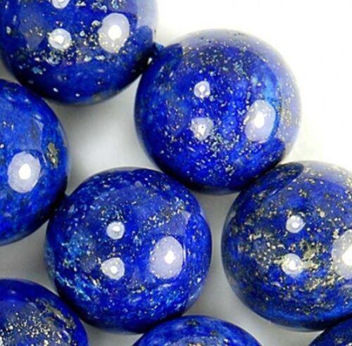 """12mm Natural Indigo Lapis Lazuli Round Beads 15/"""" JL158"""