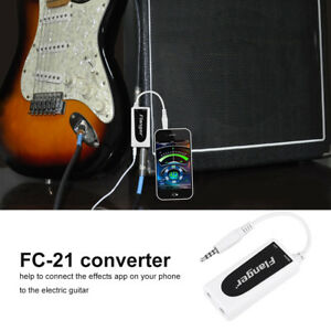Flanger Electric Guitar Bass to Phone/Tablet PC Connector Converter Premium