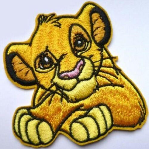 ÉCUSSON PATCH ROI LION ** 8 x 7,5 cm ** APPLIQUE BRODÉE THERMOCOLLANTE