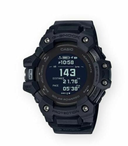 Authentic Casio G-Shock Men's Solar GPS Heart Rate MonitorBlack Watch GBDH1000-1