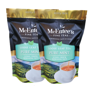 McEntee's Pure Mint Tea Infusion- (Pack of 2 X 150g Bags) - From Ireland