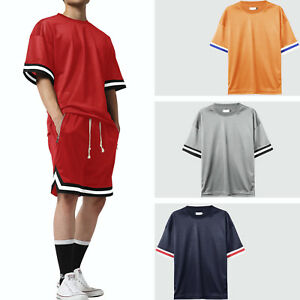 8b8553293 MENS MESH T SHIRT Lightweight Tee Short Sleeve Urban Hip Hop Fashion ...
