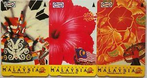 Malaysia-Used-Phone-Cards-3-pcs-Fascinating-Malaysia
