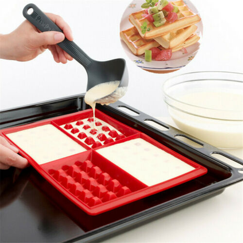 Silicone Waffle Maker Cake Nonstick Mould Bakeware Biscuit Muffin Baking Mold