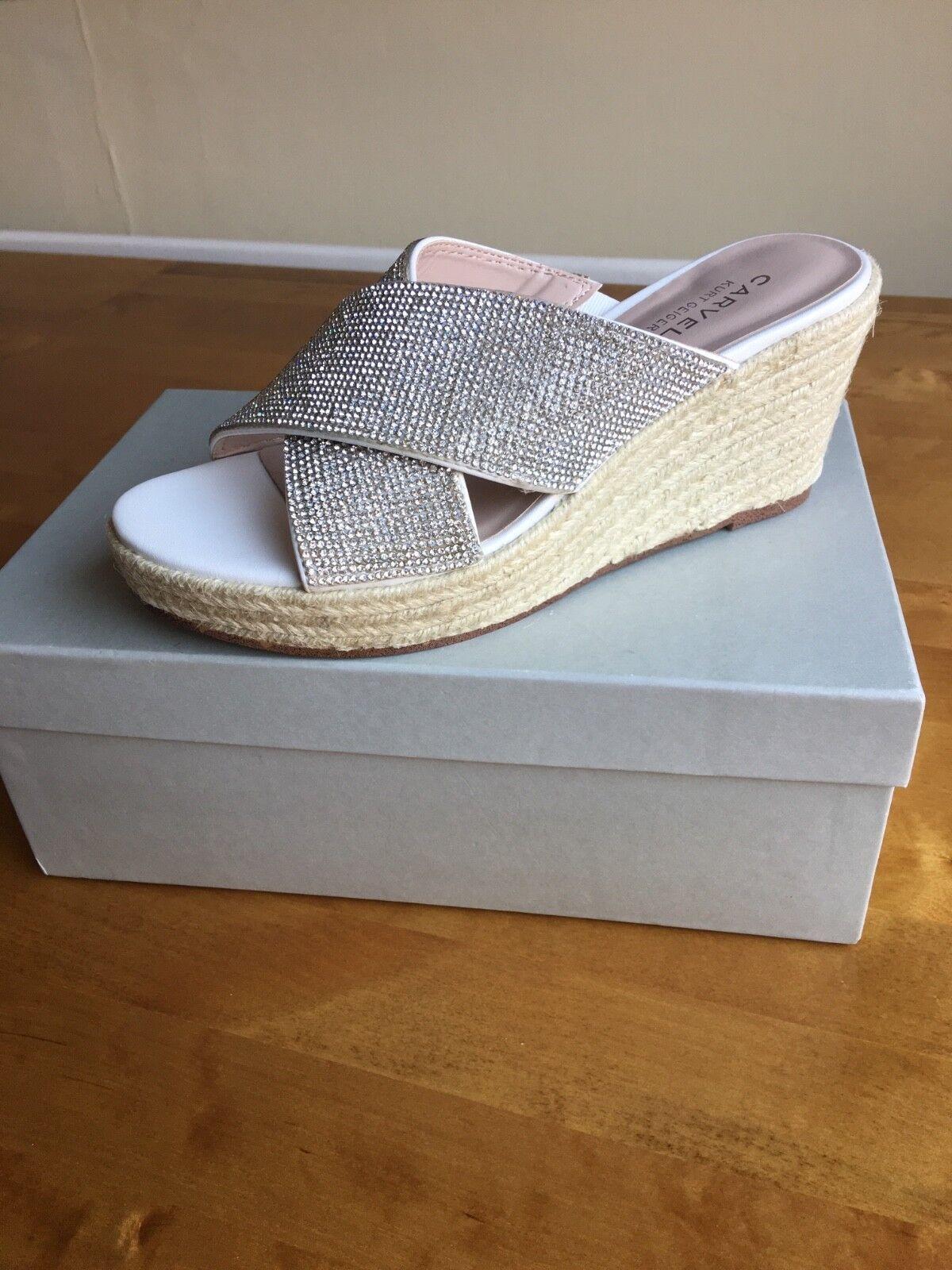 Carvela White 'Sprinkle' Wedge Sandals size 4 BRAND NEW IN BOX