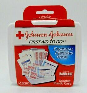 JOHNSON & JOHNSON First Aid to Go Kit 12 Items 1 Each 381370082958WS