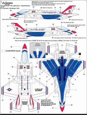 Luminosa Warbird What If ,usaf Thunderbirds Flew The F-35a Lightning Ii? Decalcomanie