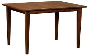 Details About Amish Dining Table Tapered Shaker Leg Rectangle Solid Wood 36 42 48 54