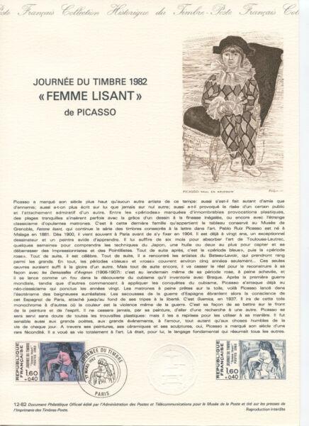 10 Documents PhilatÉliques Timbres OblitÉrÉs 1 Jour SÉrie Peintres Picasso ... Sang Nourrissant Et Esprit RéGulateur
