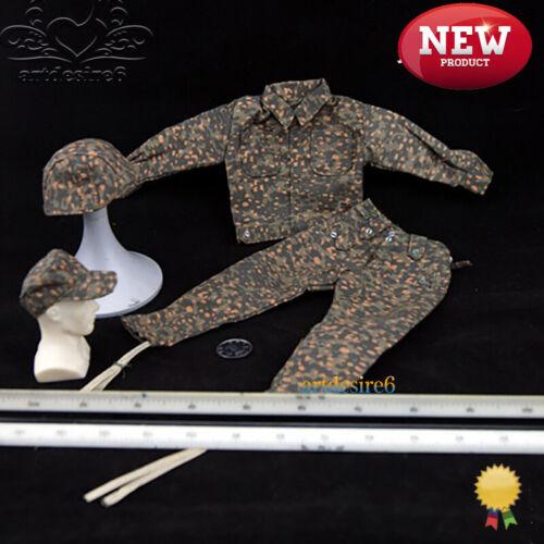 """1//6 SCA Militare Seconda Guerra Mondiale Esercito Tedesco Pea GENDARMERIA GIACCONE Pantaloni Tuta CAM 12/"""""""