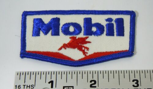 """MOBIL OIL /& GAS Embroidered Iron-On Uniform-Jacket Patch 3/"""""""