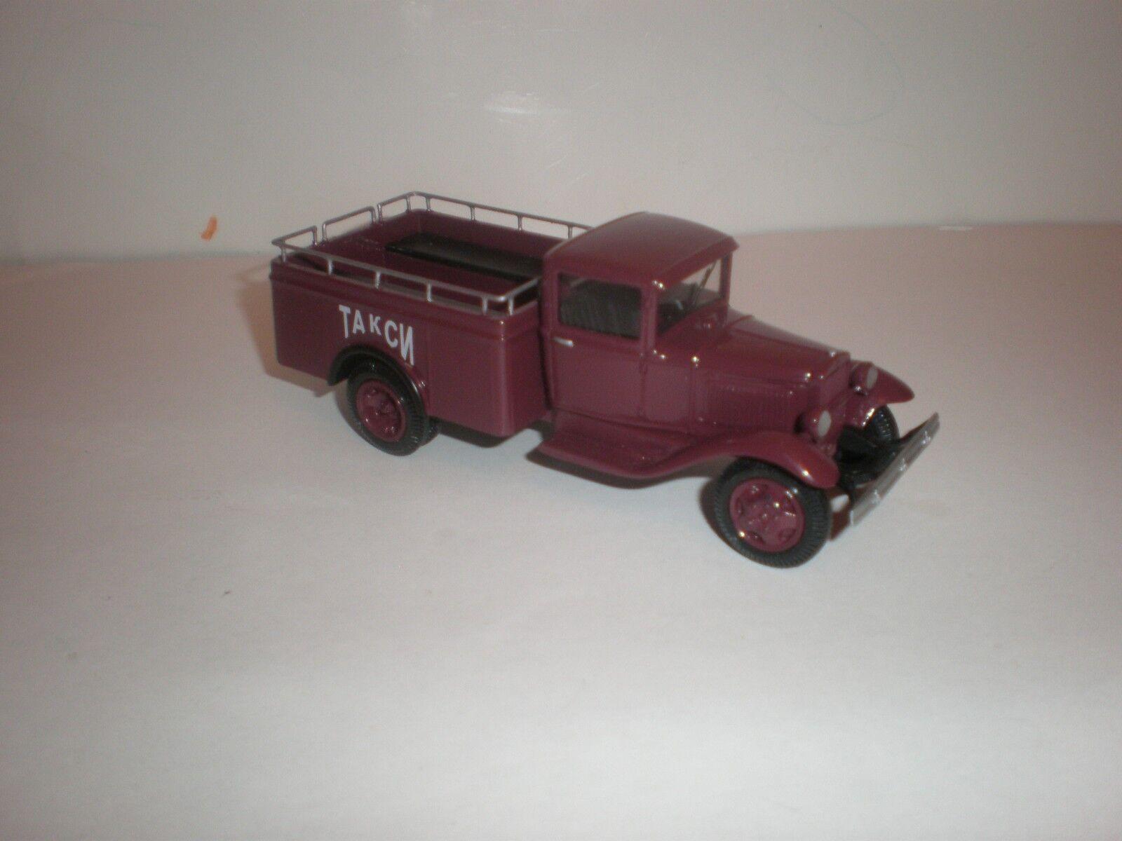 1 43 Russisch Pick-Up Lkw Gaz-Aa Taxi   1930 - 1940 Handgemacht von