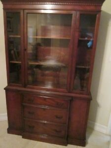 Image Is Loading American By Martinsville Mahogany Mid Century China Cabinet