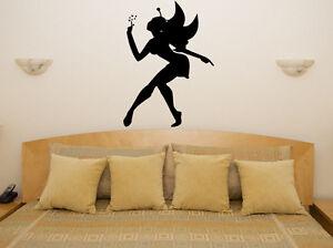 Comte-de-fee-fee-Nurserie-pour-enfants-chambre-Autocollant-Art-mur-image