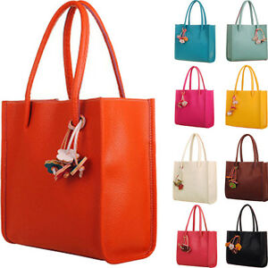 Image Is Loading New Elegant S Handbags Leather Shoulder Bag Candy