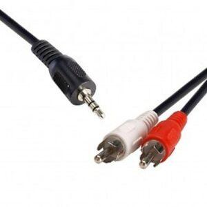 3.5 ST Plug 2 x RCA Plug 2m QK-8057