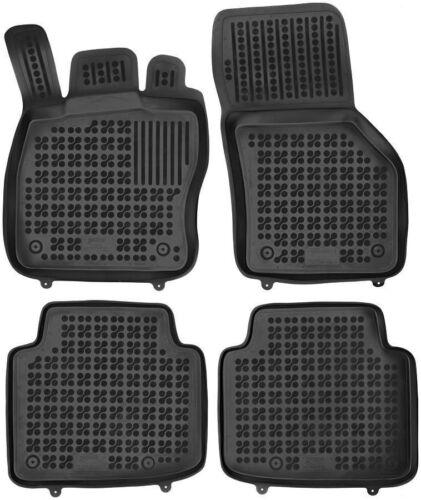 ab 2015 4-teilige schwarze Gummifußmatte für SKODA Superb III Bj