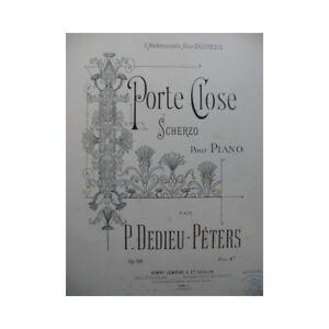 DEDIEU-PETERS-P-Porte-Close-Piano-partition-sheet-music-score