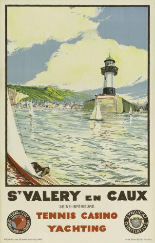 SAINT VALERY EN CAUX ..FRANCE... Vintage 1936 Travel Poster A1A2A3A4 Sizes