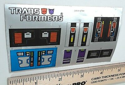 G1 Double Spy Punch Counter Punch Sticker Decal Sheet