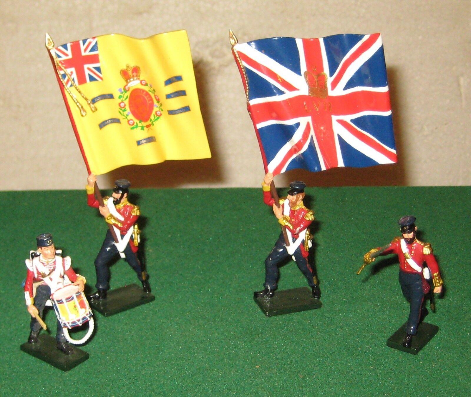 Britains 43076 British 57th Regiment Advancing - Command Set