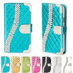 Handy-Tasche-Strass-fuer-Samsung-Galaxy-Schutz-Huelle-Flip-Cover-Case-Etui-Wallet