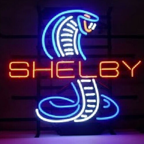 "Neon Signs Shelby Cobra  Beer Bar Pub Party Store Homeroom Wall Decor 24/""X20/"""