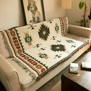 Ethnic-Geometric-Aztec-Navajo-Blanket-Throw-Rugs-Sofa-Art-Decor-Bohemian-US