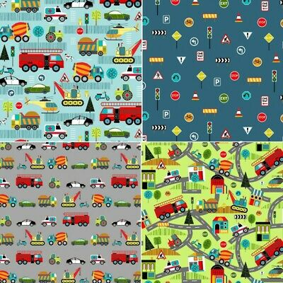 Nutex Hot Rods Vintage 1950/'s style Fabric Fat Quarter 100/% Cotton