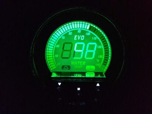 PEAK 52mm Water Gauge Instrument ALARM RSR OLED EVO Wassertemperatur Anzeige