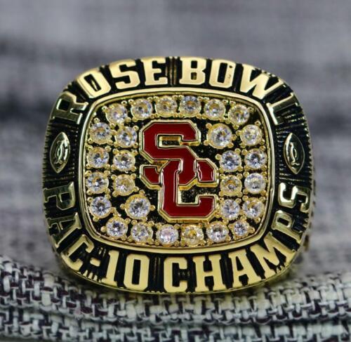 Year 1995 USC Trojans Rose Bowl National Football Championship Ring 8-14Size