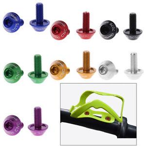 2Pcs-M5x10mm-Bike-Bicycle-Water-Bottle-Cage-Bolt-Holder-Screw-Aluminum-Alloy