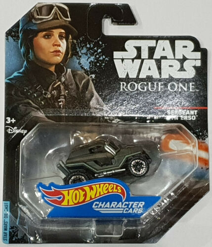 HOT WHEELS 2017 Star Wars character CARS Rogue One sergente jyn erso dxp27