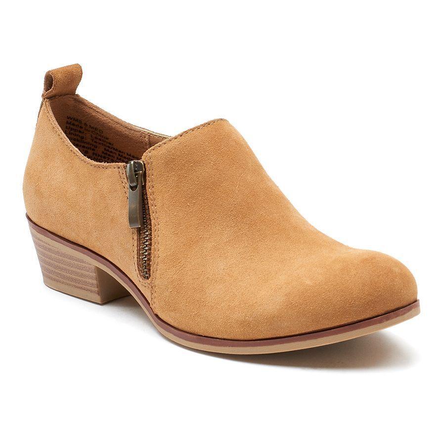 NWT Women's SONOMA Goods for Life Maureen Low Ankle Myrna KellEy Petia Cognac
