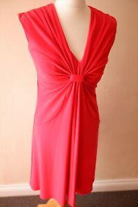 U-NINE-WEST-DRESS-SIZE-6-GRAPEFRUIT-RED-CORAL
