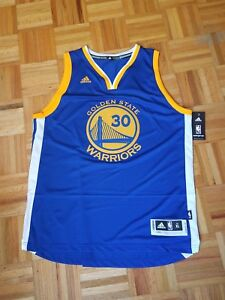 new style 15dac 07b4b Details about Stephen Curry #30 Blue Golden State Warriors Jersey Men XL  tags New!