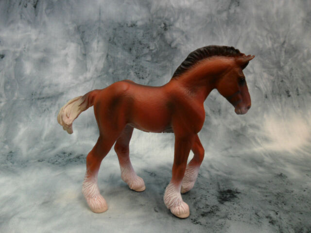 Schleich 13671 Clydesdale Foal Model Draft Horse Toy Figurine NIP