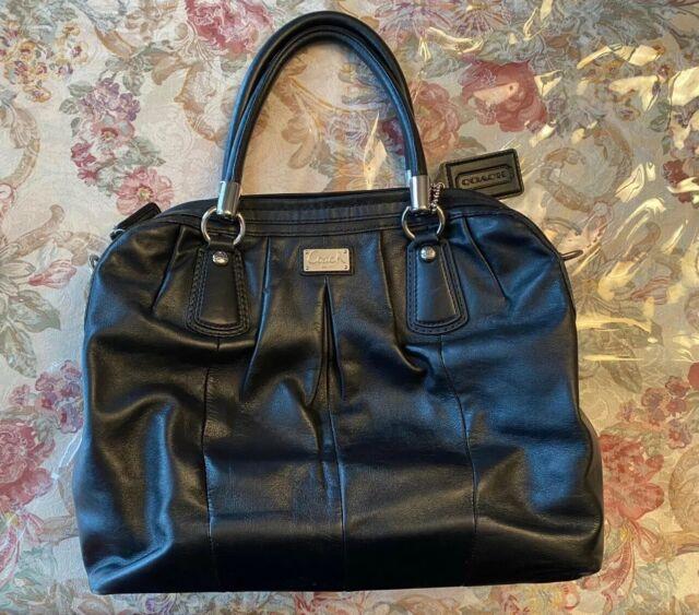 Coach Kristin Leather Pleated Satchel Bag