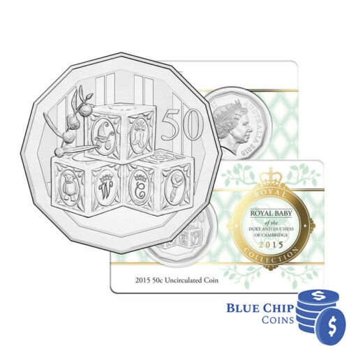 2015 UNC 50c Royal Baby Charlotte Coin on Card