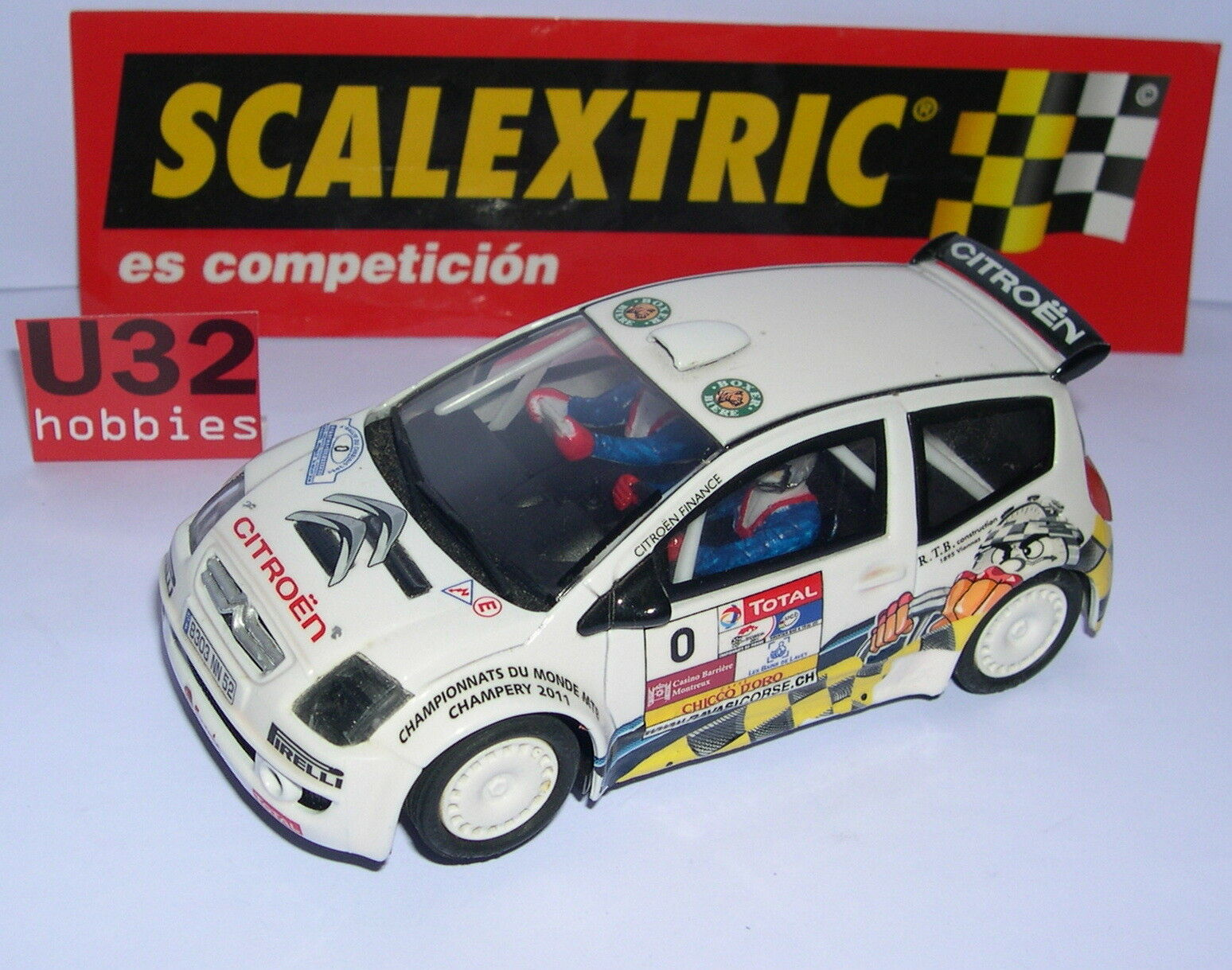 SCALEXTRIC CITROEN C2 S1600  0 RALLY DI CHABLAIS'09 S. LOEB DECORAZIONE